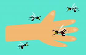 蚊蟲叮咬人手創意動畫MOV高清特效視頻
