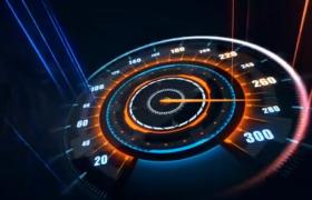 激情赛车科幻仪盘表散发炫酷光线的赛车电影开场动画ae模板