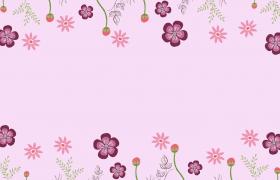 超美簡約INS風彩繪鮮花動態旋轉裝飾MP4兒童節動畫背景視頻
