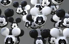 2020爆款米奇生肖老鼠派對氣球裝飾C4D模型