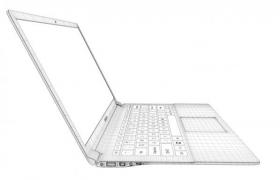 网格状华硕超薄办公笔记本电脑C4D高清写实模型(obj,3ds,c4d)