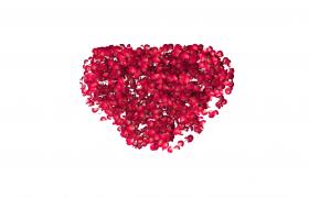 花瓣汇聚空间感转动成心形图案520情人节特效视频