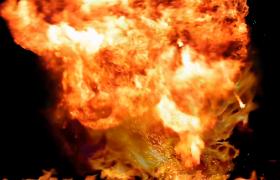 熊熊烈焰爆炸开场火光数字星火四溅10秒倒计时视频下载