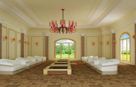 華麗正式的總統級豪華會客大廳3DMAX源文件格式場景模型