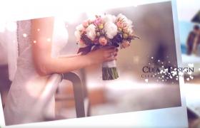 520唯美愛心特效字幕閃爍情人節婚慶相冊片頭展示 AE模板