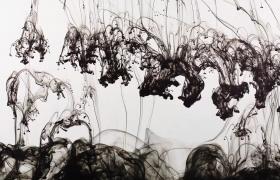 20段慢動作中國風水墨水彩在水中擴散特效2K高清視頻素材