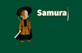 卡通孩童光頭武士動漫人物角色Body Samurai C4D模型(c4d,obj,stl)