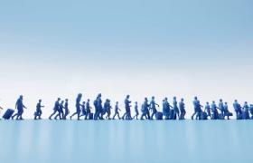 職場人群動態行走企業商務風MP4特效動畫視頻