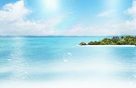 海天一色氣泡夢幻漂浮夏日海邊度假風光MP4背景視頻