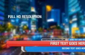 紅藍雙色拼接10款新聞快訊橫向字幕條新聞欄目包裝AE模板