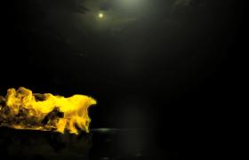ED模板_金色粒子駿馬飛馳動感大氣舞臺節目開場動畫