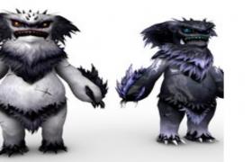 兇殘外表雪人怪獸卡通人物角色C4D模型(含貼圖)