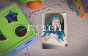 模糊光暈特效兒童玩具裝飾寶寶成長相冊ae模板參考