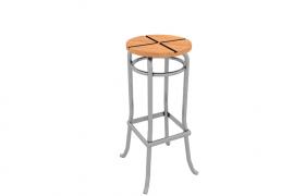 酒吧咖啡厅欧式复古前台吧台格调轻奢座椅C4D模型