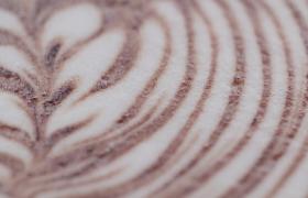 微距特写拿铁咖啡拉花图案MP4广告宣传实拍视频