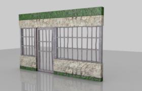 简易卡通纹理填充设计Prison Door监狱铁门C4D模型(obj,c4d)