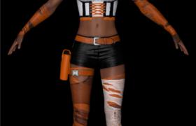 完美身材假面女超人戰警C4D角色扮演模型
