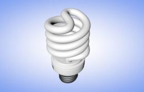 紧凑型节能灯泡家用照明灯绿色照明工程设备C4D模型