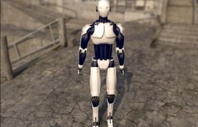高科技标准仿人类智能科学机器人cinema4d模型