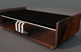 高光镜面玻璃材质打造高品质室内格调咖啡桌c4d模型