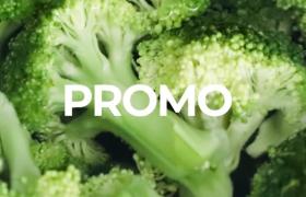 西蘭花健康綠色飲食時尚幻燈片圖文排版布局AE模板