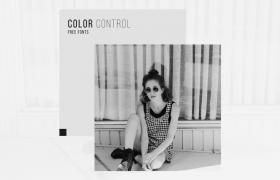 歐美風時尚寫真個人藝術照黑白條紋包裝圖文展示AE模板