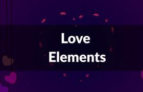 AE心形特效模板_卡通手繪心形動畫特效元素模板