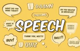 含有趣味漫画元素字幕对话气泡弹出特效的ae源文件优德w88中文版
