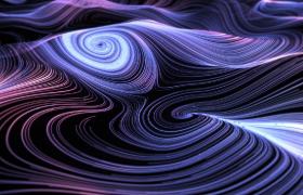霓虹光线漩涡空间起伏运动MOV科技效果特效视频
