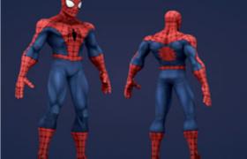漫威超级英雄Spider-Man蜘蛛侠动漫角色C4D模型
