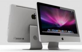 一体式苹果液晶显示屏imac品牌机公司办公电脑c4d模型