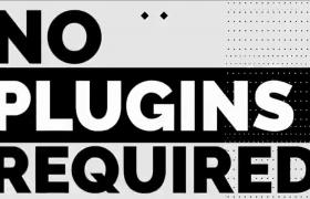 黑白動態文大圖切換時尚廣告快閃片頭AE模板