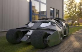 美国漫画真人版超级英雄蝙蝠侠战车Batmobile 3D模型