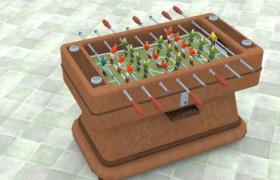 全民健身體育運動Table Football桌式通杠足球游戲桌C4D模型