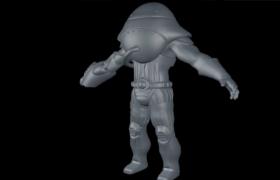 邪恶的外星球侵略者C4D科幻人物角色模型
