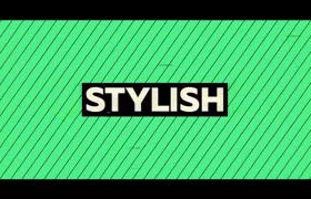 彩色鮮亮斜條紋拼接活力時尚開場logo標志ae片頭