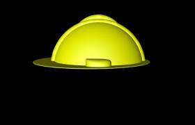 戶外辦公視察工程師黃色安全帽C4D模型