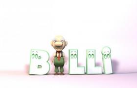 Billy比利老师卡通动漫教师职业形象C4D人物角色模型
