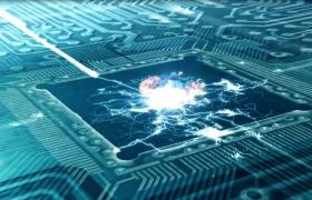 能量光線快速輸出電子科技衛星MP4特效視頻素材