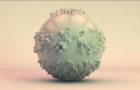 炫彩光澤3D彩球毛刺失真特效演繹MP4動畫背景視頻