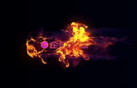 烈焰燃烧冲击logo标志揭示VSP会声会影片头