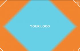 橙蓝双拼效果青春活力感图形切换MG动画会声会影模板