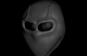 C4D建模:外星人人物头像alien基础建模教学模型展示