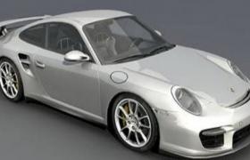 保时捷(Porsche)2011款911系列GT2高质量跑车3D模型(obj,3ds)