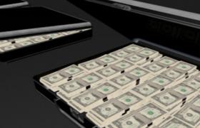 500万美元Dollar整捆现金钞票密码箱C4D模型展示