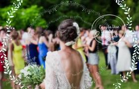 彩绘花环装饰简约INS风设计浪漫婚礼相册ae模板