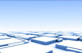 立体方块迷宫场景3D条块环绕移动抽象动画背景视频