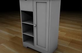 C4D純物理渲染:真實櫥窗立柜家居擺件模型素材下載