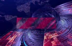 红色炫光环形运动3D科技球体展示新闻政治片头ae模板