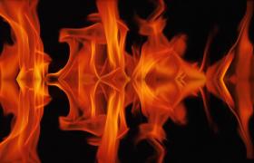带有镜像倒影的火焰威猛燃烧HD特效视频